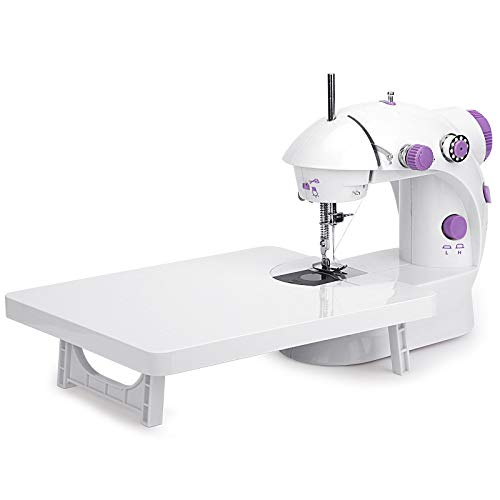Mini Sewing Machine with Extension Table Portable Adjustable 2-Speed Crafting Mending Machine with Foot Pedal Upgrade Version for Household Kids Beginners Travel Use