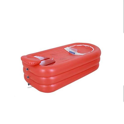 MGMDIAN Bañera ▏ baño termostato de casa ▏ bañera Inflable de plástico Plegable Grande con Masaje ▏ bañera bañera bañera