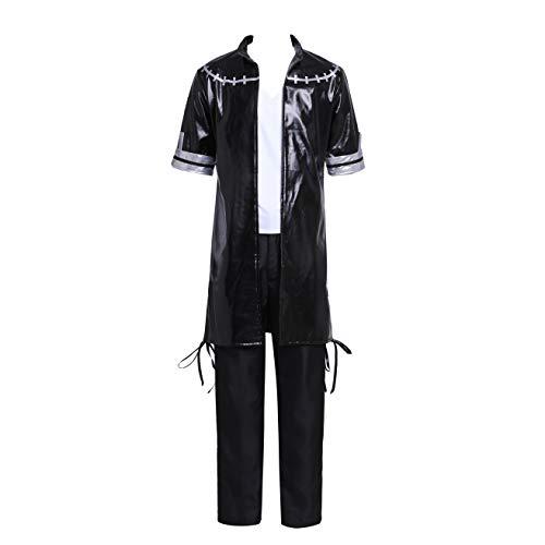 SBluuCosplay Dabi disfraz de cosplay conjunto completo - Negro - Small
