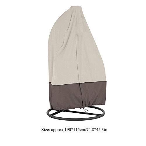 Stoelhoezen, Tuin Patio Meubelhoes Waterdichte schommelstoel voor buiten Hangend, beschermt schommelstoel tegen regen, wind, UV, stof(Beige)