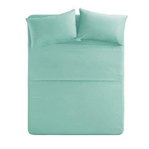 Comfy Sheets Luxury 100% Egyptian Cotton - Genuine 1000 Thread Count 4 Piece Queen Sea Foam/Aqua Blue Sheet Set-Fits Mattress Up to 18'' Deep Pocket.