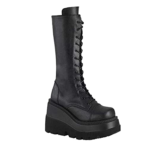 (50% OFF) Ladies Chunky Platform Mid-Calf Boots $25.99 – Coupon Code