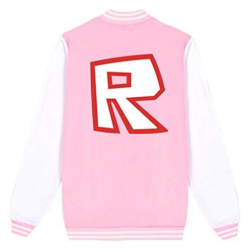 MOHKJMML Roblox Pullover Baseball-Jacke Mädchen Einfache Bequeme Baseball-Trikot Kinder Mantel-beiläufige gedruckte Oberbekleidung Junge und Mädchen (Color : A20, Size : Height-130cm(Tag 130))