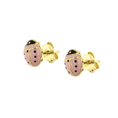 orecchini in oro bambina Lucchetta - Orecchini Bimba Oro