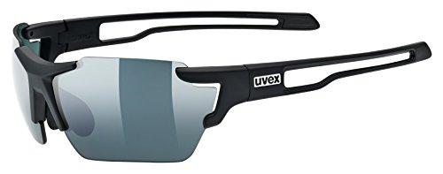 uvex Unisex– Erwachsene, sportstyle 803 small CV Sportbrille, kontrastverstärkend, schmale Passform, black mat/urban, one size