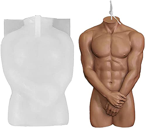 3D Body Shape Silicone Mold, Body Art Silicone Mold Human Body Shape Candle Molds for Crafts, Candle Wax Epoxy Making Soap Mould Craft, DIY Aromatherapy Plaster Female Male