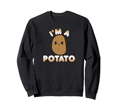 Funny Potato Costume Cute Kawaii Style Smiling I'm A Potato Sweatshirt