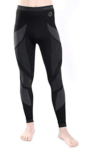 Sesto Senso® Pantalón Térmico Hombre Ropa Interior Térmica Funcional Calzoncillos Largos Leggins Termo Activo (M, Gris)