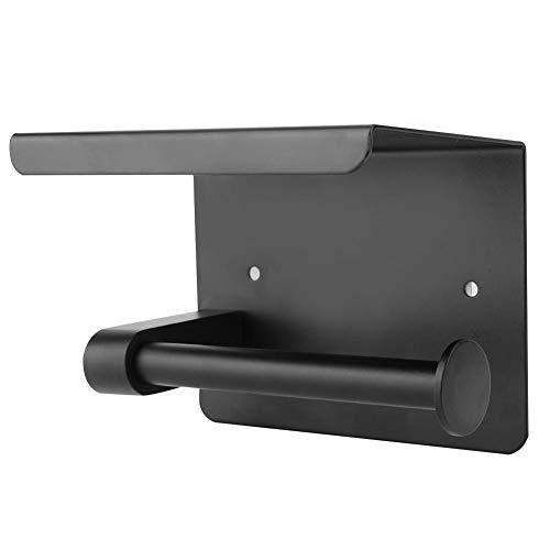 Portarrollos de papel higiénico, 5.5 x 3.9 x 3.5 in, estante para inodoro, con estante de almacenamiento para terrazas, balcones, dormitorio, inodoro