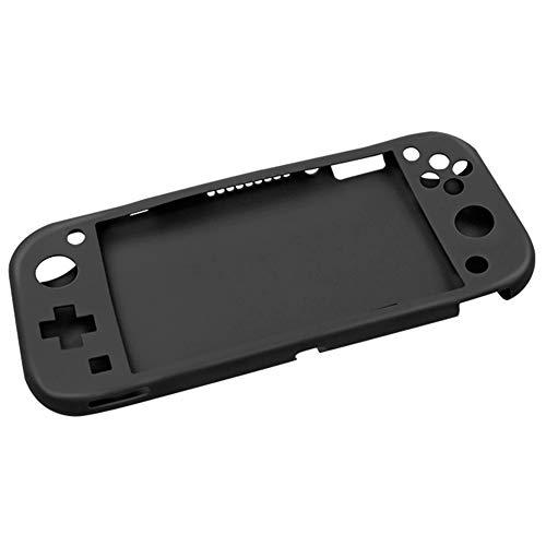 Xpccj Funda protectora de silicona para consola Nintendo Switch Lite, funda antideslizante para consola de juegos de mano, accesorios de consola de juegos (color: negro)