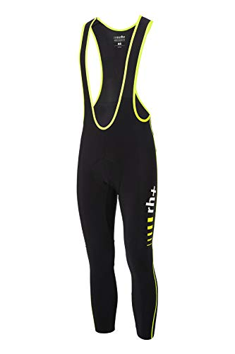 Zero RH+ Icu0593 917S, Flash Bibtight Uomo, Black/Yellow Fluo, S