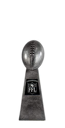 Fantasy Football Award - Meisterschaft Lombardi Trophäe, groß, 25,4 cm hoch, Antiksilber