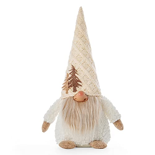 Gnome Christmas Decoration White Plush Large Gnomes Christmas Decor Handmade Swedish TomteOrnaments Thanks Giving Day Winter Home Decor Farmhouse Full Holiday Gnomes Gifts Dolls 14Inch PICUKI