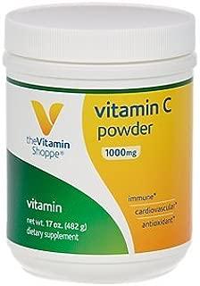 The Vitamin Shoppe Vitamin C Powder 1,000MG, Antioxidant That Supports Immune and Cardiovascular Health (17 Ounces Powder)