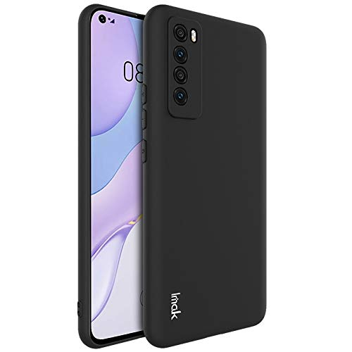 PHONETABLETCASE+ / for Compatible with Huawei Nova 7 5g UC-1 Series A Prueba de Golpes Frosted TPU Funda Protectora,Protección de la Cubierta de la Cubierta a Prueba (Color : Negro)
