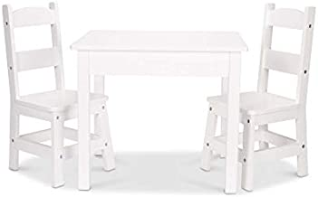 Melissa & Doug Wooden Table & Chairs - White