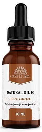 Adema Med NATURAL OIL 10 - Tropfen, 10% Öl, Premium Vegan Natürlich, 10ml