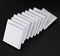 """LinaLife10pcs 2.8"""" x 2.8"""" Mini Canvas Panels 100% Cotton White Blank Mini Stretched Canvas Boards for Painting Craft Draw..."""