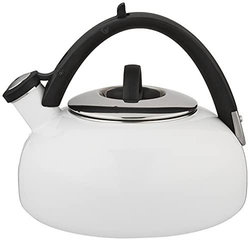 Cuisinart Peak Porcelain Enamel on Steel Tea Kettle, White