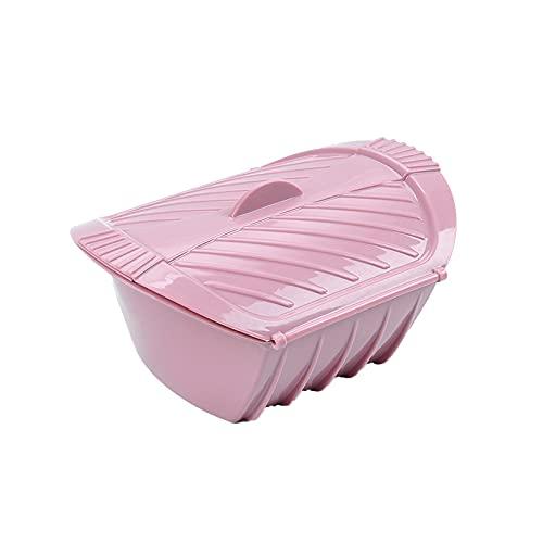 PLASTIFIC Caja de Vapor de Silicona con Tapa para microondas,Rosa 1 Unidad