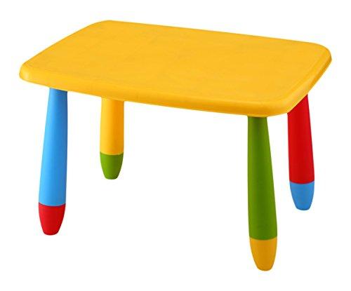 mesa rectangular para niños de colores