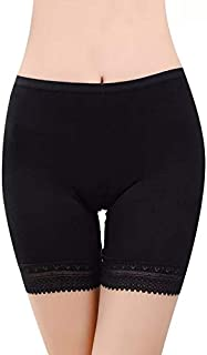 Ritu Creation Women's/Girl's 4 Way Stretch Cotton Spandex High Waist Safety Pants/Cycling Shorts with Lace