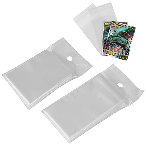 EAUOH Fundas blandas para cartas de Pokémon Magic, Yu-Gi-Oh! (estilo sellado, 2 paquetes de 100 unidades)