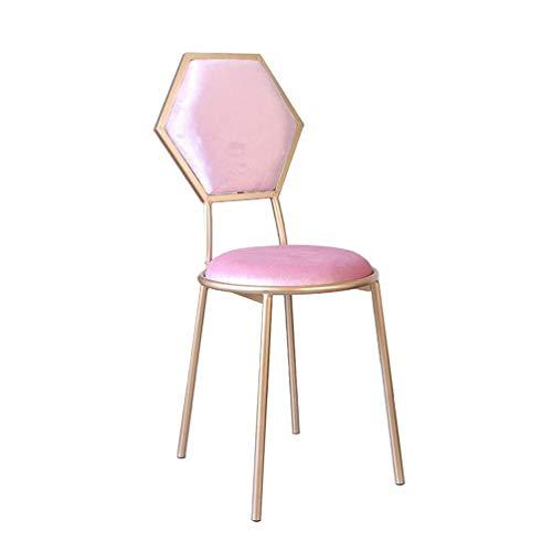 LJBXDCZ NJ barkruk keuken barkruk bar stoelen, ijzeren kunstbar stoel lounge stoel met dining Chair Coffee Counter Stoel Princess Make-up stoel energieklasse A +++