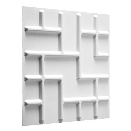 WallArt Wall Decor - Paneles sostenibles 3D para pared/Azulejos decorativos 3D para...