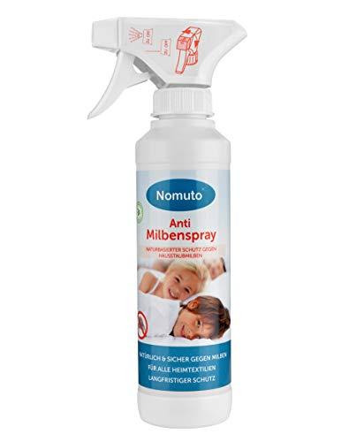 Nomuto Spray antiácaros, principio activo natural, fabricado en Alemania.