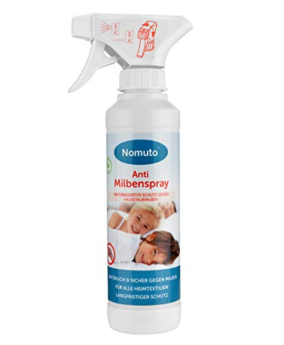 Nomuto - Spray antiácaros, Sustancia Activa Natural, Fabricado en Alemania