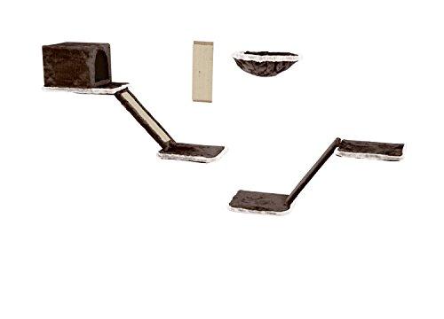 Silvio Design 21908.102 Katzen-Kletterwand 8-teilig grau