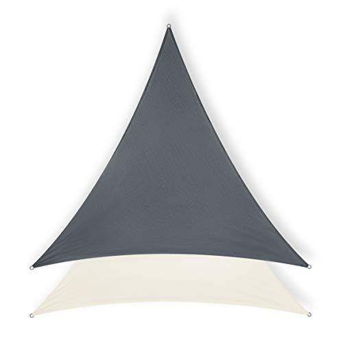 Minuma® Sonnensegel | Sonnenschutz | Wetterschutzsegel | Windschutz | Sichtschutz - atmungsaktiv mit UV-Schutz | Dreieck 3 x 3 x 3 m, anthrazit