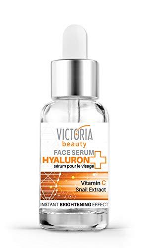 Victoria Beauty - Vitamin C Serum für junges Gesicht, Anti Aging Hyaluron Serum mit Schnecken-Extrakt, Snail Gesichtsserum mit Hyaluronsäure (1 x 20 ml)