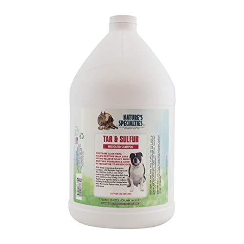 Nature's Specialties Tar & Sulfur with Aloe Shampoo for Dogs, Non-Toxic Biodegradeable, 1gal
