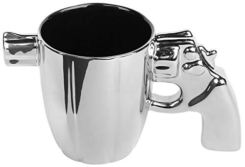 OOTB Taza de café cerámica plateada estándar