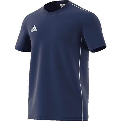 adidas CV3981 Core18 Tee T-Shirt Homme, Dark Blue/Blanc, FR : S (Taille Fabricant : S)