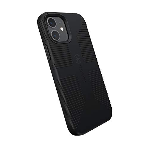 Speck Products CandyShell Pro Grip iPhone 12, iPhone 12 Pro Case, Black/Black