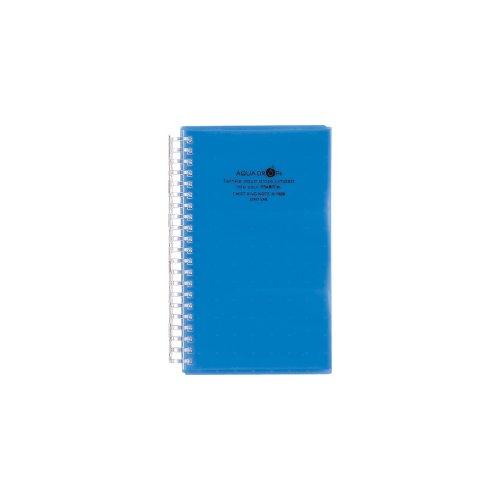 リヒトラブ 名刺ファイル カードホルダー アクアドロップス 120カード 青 A5000-8