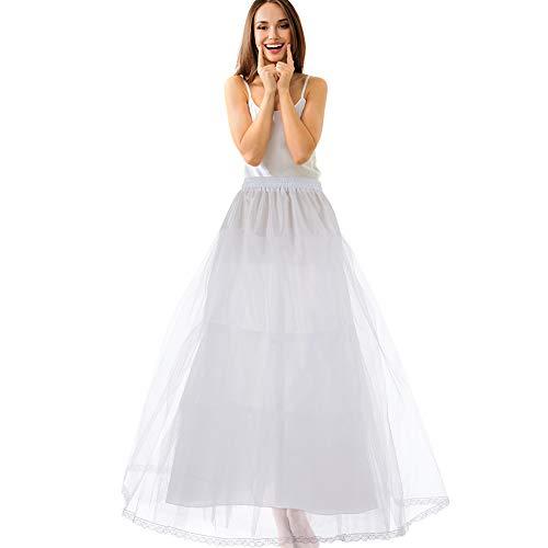 LONGBLE Reifrock Brautkleid Petticoat Unterrock, 3 Schichte Tülle Reifrock Krinoline -verstellbar...