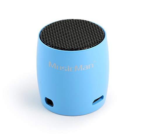 MusicMan Nano Bluetooth Lautsprecher Soundstation BT-X7 mit Micro blau oder pink NEU Wow - All-In-One-Outlet-24 -