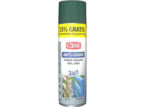 CRC - Spray Imprimación De Zinc Más Color En Un Sólo Producto. Antioxido Ral 6005 Verde 500 Ml