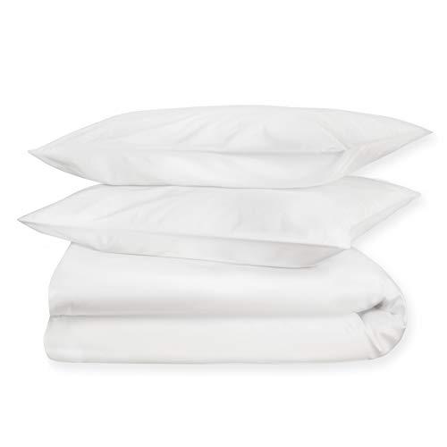 Generiek Dream Sheets Luxus - Funda de edredón para cama individual (240 x 220 cm, algodón orgánico), color blanco