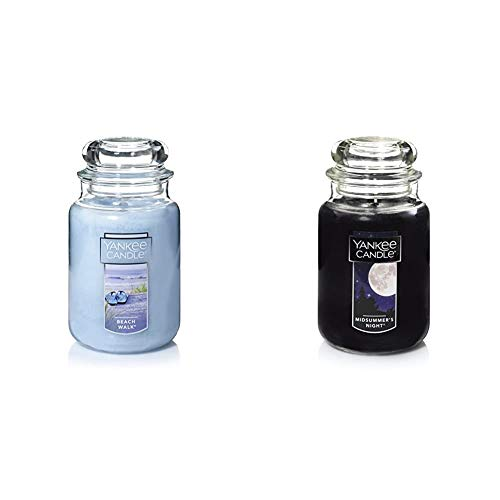 Yankee Candle Large Jar Candle Beach Walk & Large Jar Candle Midsummer's Night