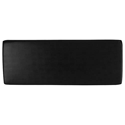 KLOP256 Sofa-Sitz-Kissenbezug, Heimdekoration, staubdicht, Zubehör, Möbelschutz, GH Stretch, weich, wasserdicht, universell mit elastischer Unterseite, Flexibilität, PU-Leder, 3 Schwarz