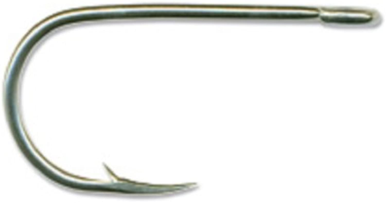 Mustad Classic Bent in Hollow Point Salmon Siwash Hook with Open Soft Ring (Pack of 100)