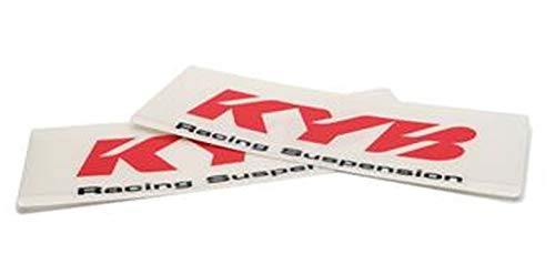Kayaba Gabel Aufkleber KYB Racing Suspension 24x8,5cm transparent rot