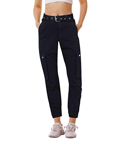 Idgreatim Damen Damen Army Camo Print Stretch Jogger Hose Hohe Taille Plus Size Gym Sporthose Baumwollhose