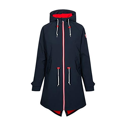 derbe Damen Softshelljacke Island Friese Navy/rot - 36