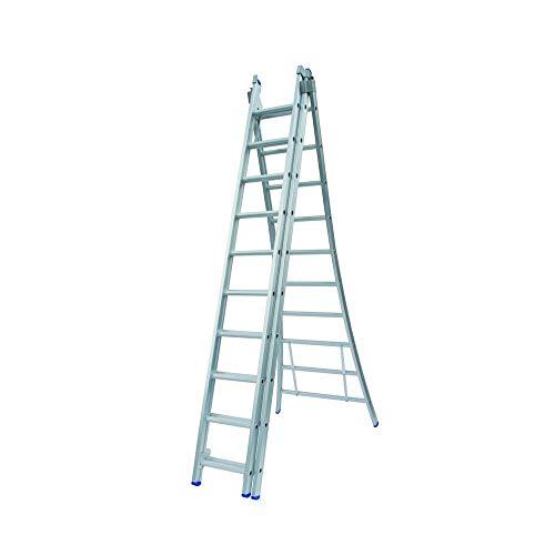 Ladder Type D gecoat driedelig uitgebogen 3x10 sporten
